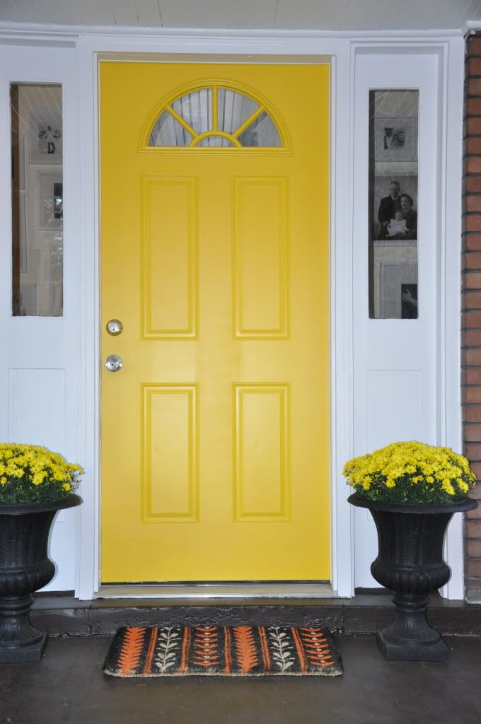 Yellow doors 18 best front doors on red brick images on Best red for front door