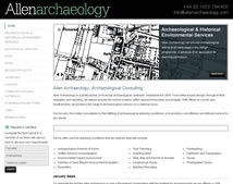 An Archeology Website - very cool!