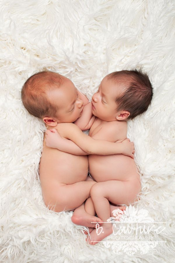 Newborn Twin Photography Pose  B Couture Photography