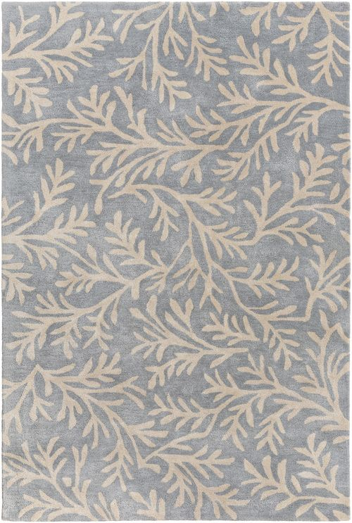 Enjoy This Charming, Plush Sea Tangle Area Rug In Shades Of Denim Blue And  Cream