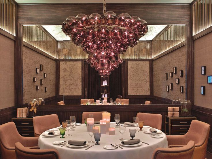 "Lighting in the Il Lago dei Cigni Restaurant in St. Petersburg orchestrates a ""Swan Lake"" of light born from the fragile beauty of Russian nature and entirely natural materials. #light #lighting #design #designlighting #interior #chandelier #hospitality #hotel #restaurant #restaurantlightingideas"