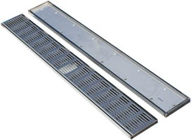 Create a barrier free bathroom with Reef Stainless Steel drainage channels