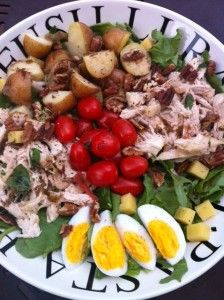 My take on the composed salad, perfect hot weather food!