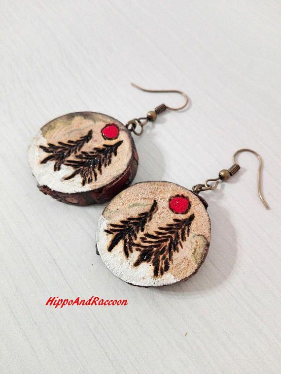 Christmas earrings Christmas ornament earrings Snowman