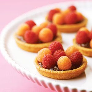 Share the sweetness of these delectable #raspberry tartlets. #dessert #love