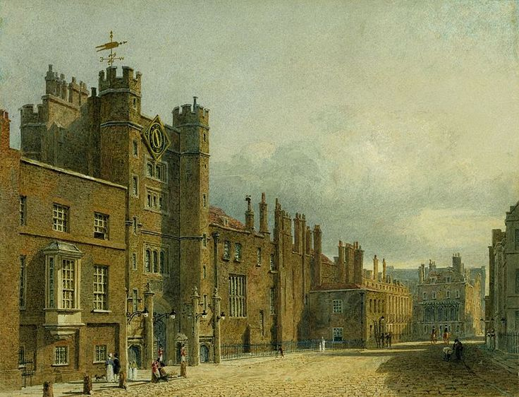 St James's Palace, North Front, by Charles Wild, 1819 - royal coll 922161 257088 ORI 0 - St James's Palace - Wikipedia, the free encyclopedia