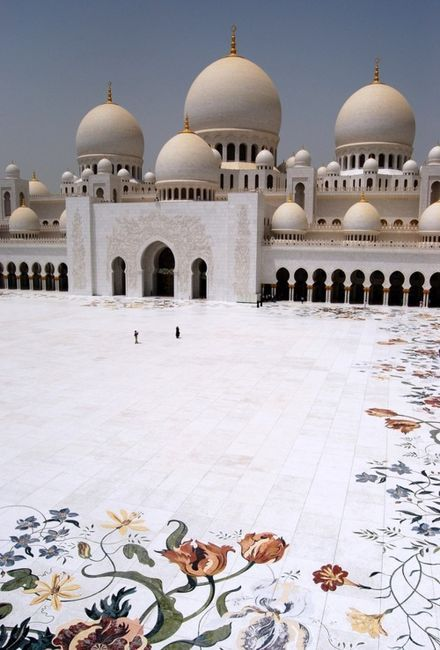 The Great Mosque in Abu Dhabi. One of the most beautiful buildings i have ever seen