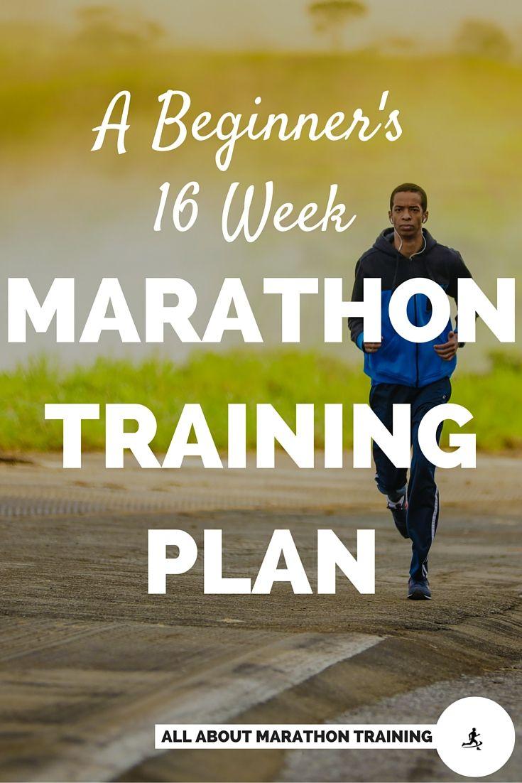 This beginner marathon training schedule is a 16 week plan designed for beginner runners who want to run their first marathon.