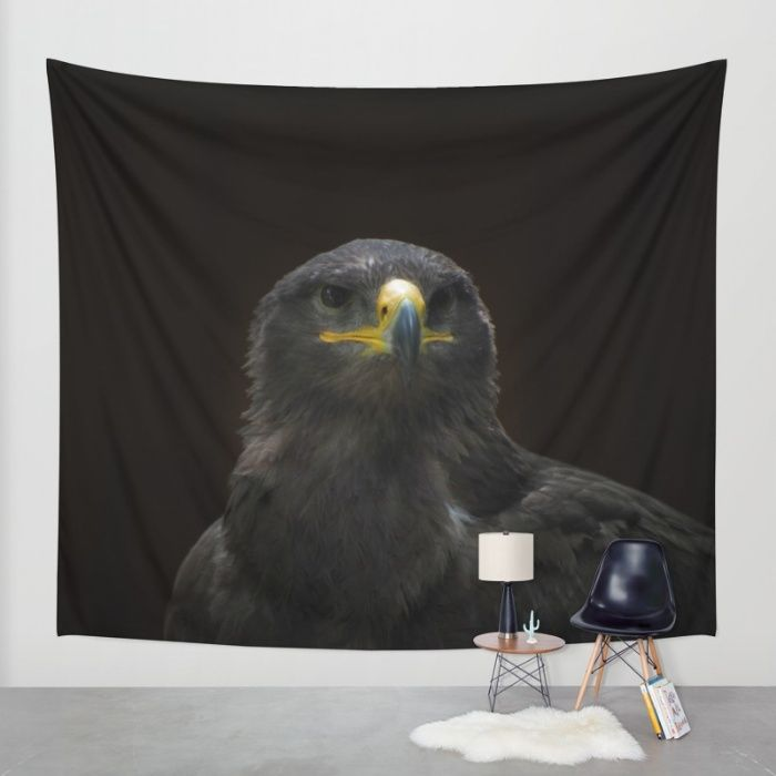 Steppe Eagle Wall Tapestry by Mixed Imagery | Society6