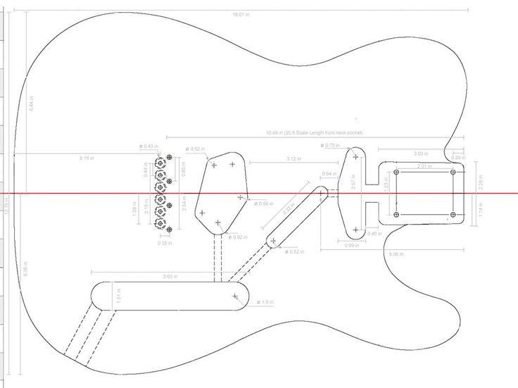 Fender Telecaster Guitar Templates
