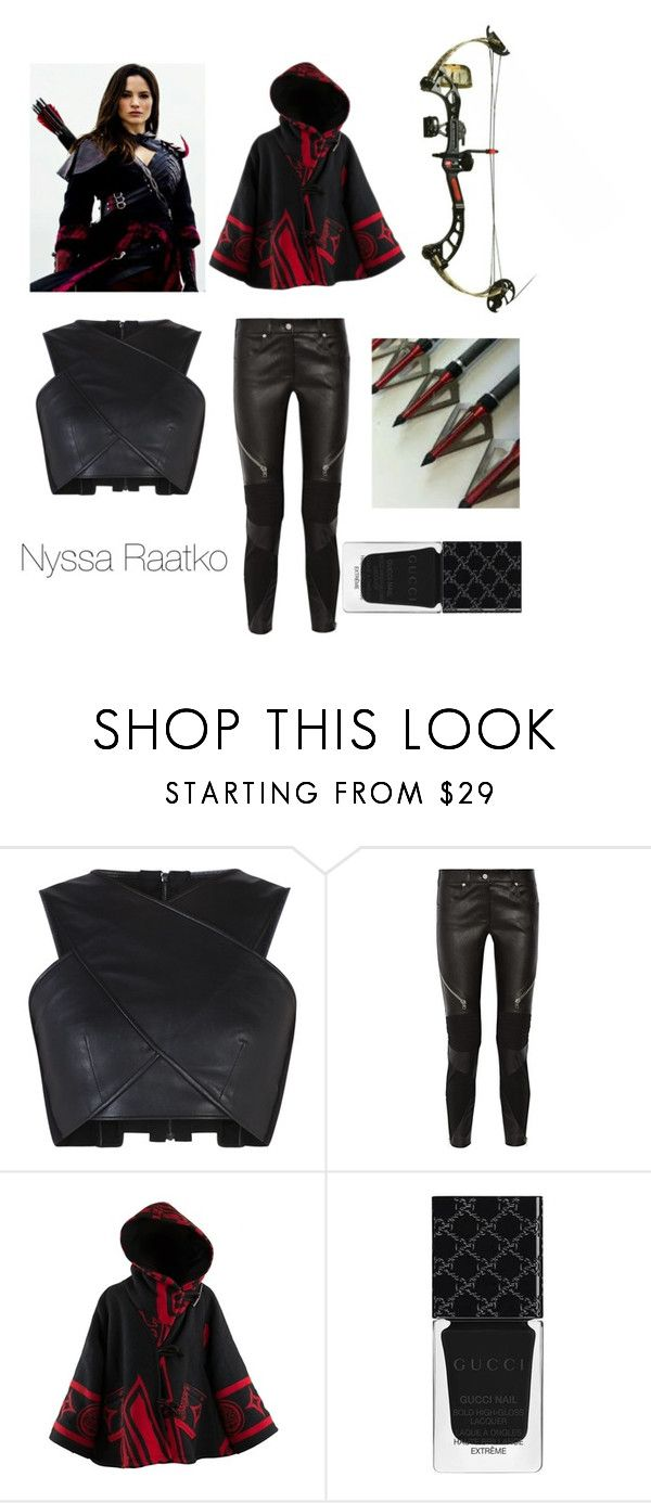 """Nyssa Raatko"" by music4evs ❤ liked on Polyvore featuring BCBGMAXAZRIA, Givenchy, Lindsey Thornburg and Gucci"