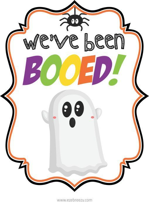 FREE You've Been BOOed PRINTABLE | You've been booed ...