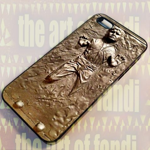 Star Wars Han Solo Carbonite For iPhone 5/5c/5s Black Rubber Case