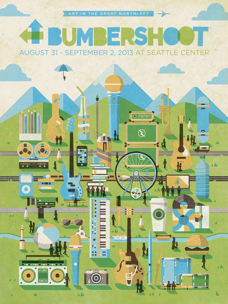 Bumbershoot 2013 Official Poster by DKNG