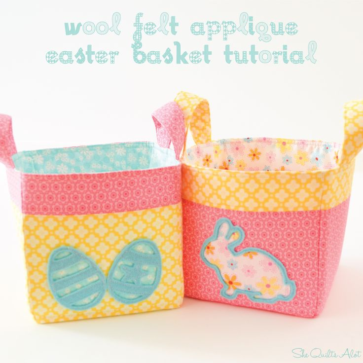 203 best pques ides cratives easter crafts images on wool felt applique easter baskets tutorial shew sewa a lot negle Image collections