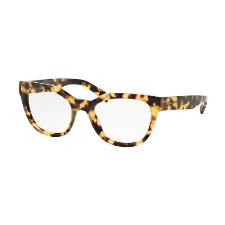 edbd1cef1f3 Cynthia McFadden s PRADA Eyeglasses PR21SV 7S01O1 Medium Havana 51MM
