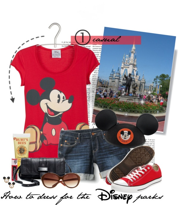 """""""How to dress for the Disney parks set 1: casual"""" by daydreaming-actress ❤ liked on Polyvore"""