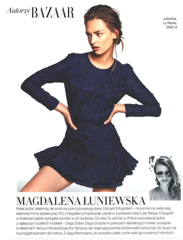 Daga Ziober wearing La Mania featured in Harper's Bazaar Polska