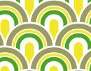 Fotobehang ta99 Retro patroon Groen-Geel