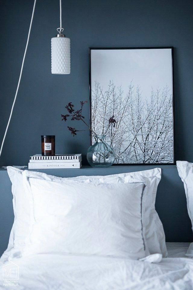 Dark Blue Painted Bedroom Walls Ideas And Inspiration Paint The