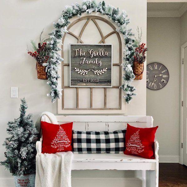 Christmas Wall Decor 7 Diy Home Diyncraftshome Com Christmas Fireplace Decor Farmhouse Christmas Decor Christmas Wall Decor