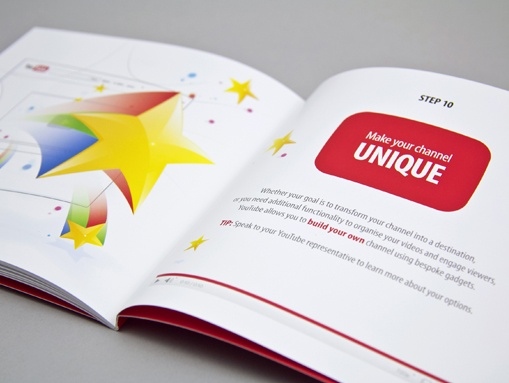 We designed a promotional guide that demonstrated the ease of setting up an effective YouTube Brand Channel.