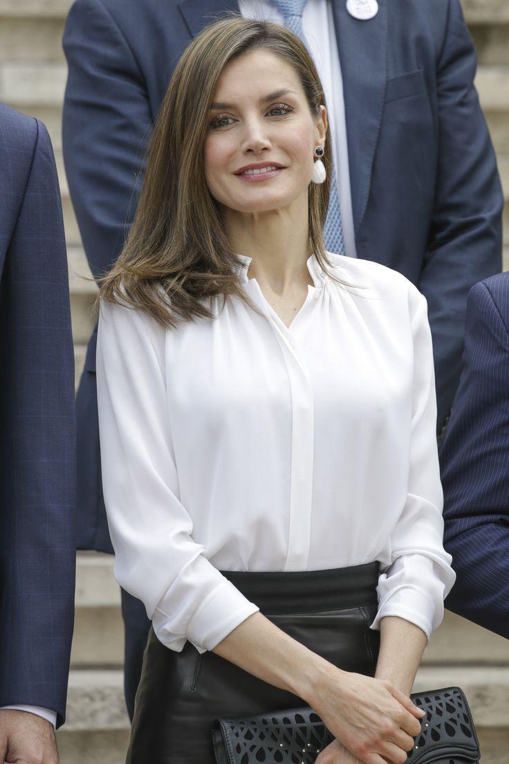 Queen Letizia of Spain attends the opening of 'Escripta. Tesoros Manuscritos de la Universidad de Salamanca' exhibition at the National Library on May 4, 2017 in Madrid, Spain.