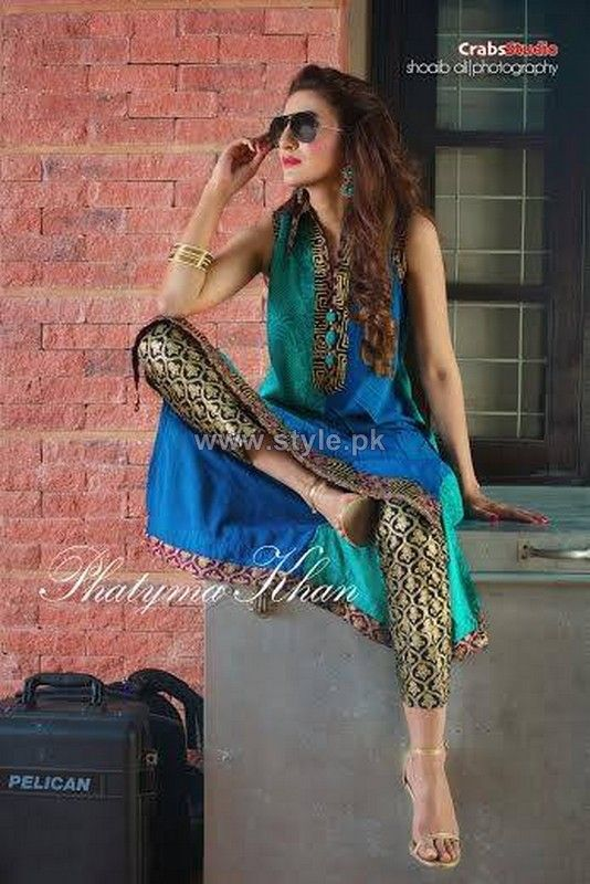 Get it at Amani www.facebook.com/2amani pakistani dresses.  Phatyma Khan Summer Dresses 2014 For Girls