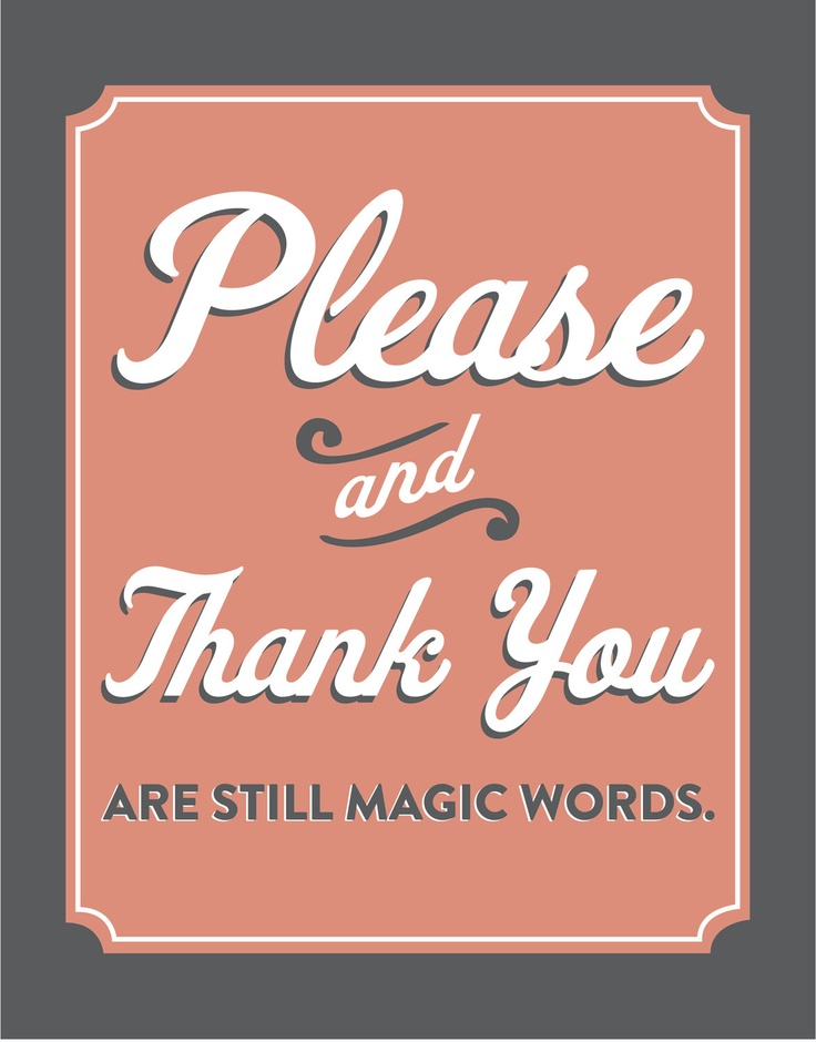 Please and Thank You Print, via Etsy.