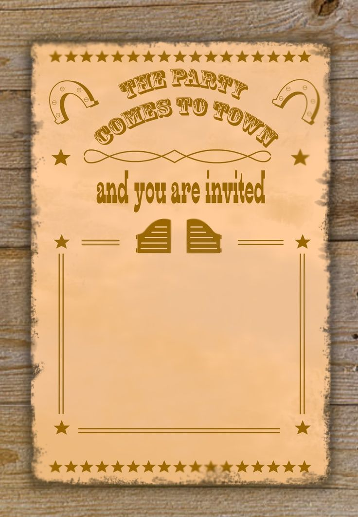 41 best images about Party Invitation Templates – Cowboy Party Invitation