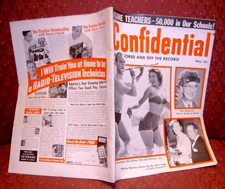 Book Confidential Magazine Hollywood Gossip Periodical May 1954 by myatticscharms on Etsy
