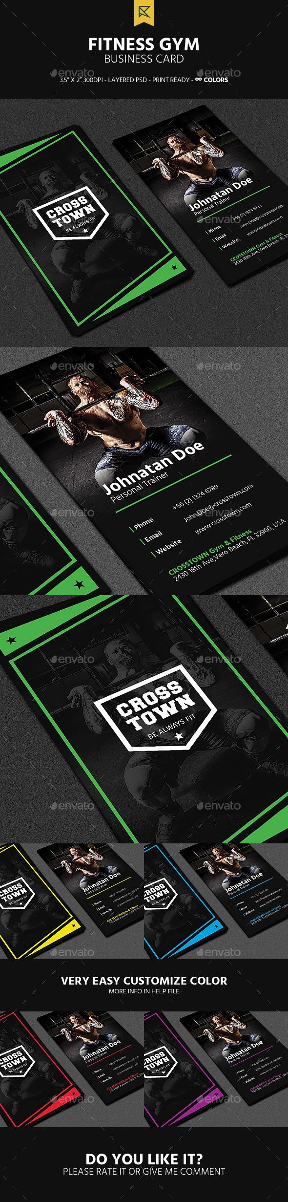 15 Best Fitness Business Cards Images On Pinterest Business Cards