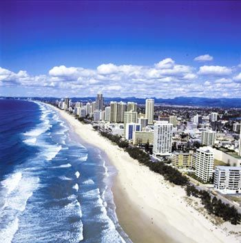 Gold Coast, Australia - I was just there and escaped a flock of blue bottles!