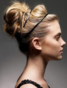 headband updo.: Up Dos, Messy Hair, Double Headbands, Long Hair, Messy Buns, Hairstyle, Hair Style, Updo, Hair Buns