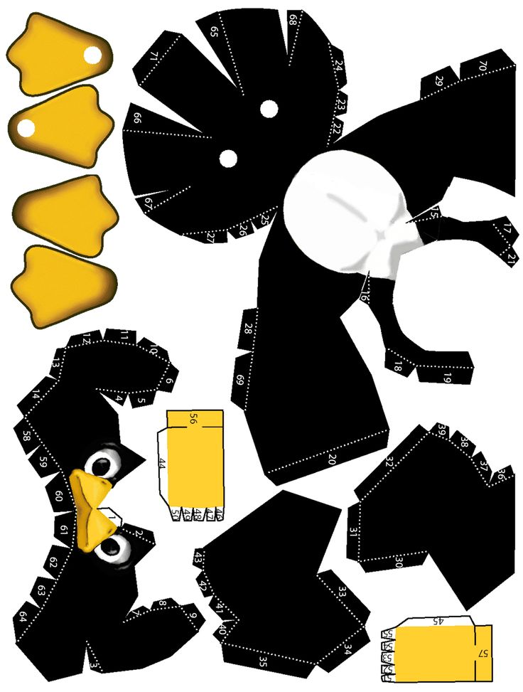 Tux Papercraft PapercraftPenguin CraftPrintablesPrintable