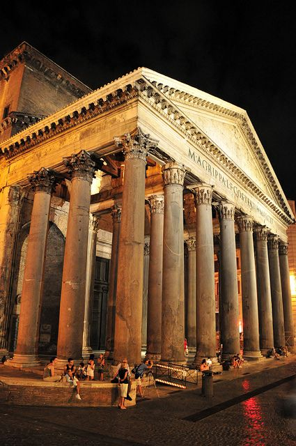 Pantheon in Rome, the oculus is truly remarkable as well as the domed roof. a must see for anyone in Rome