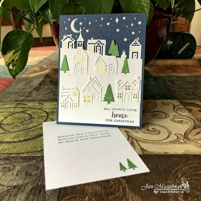 Stampin' Up! Hearts Come Home & Hometown Greetings Edgelis