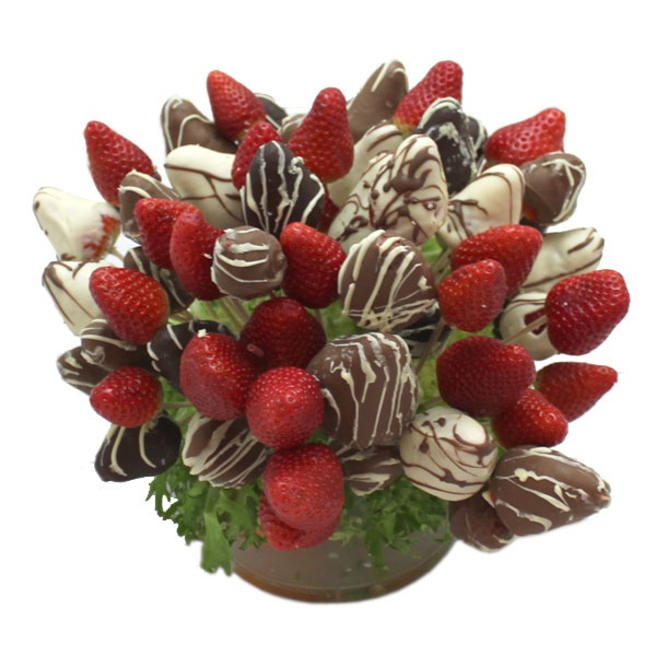 fruits and chocolates for a wedding bouquet :)