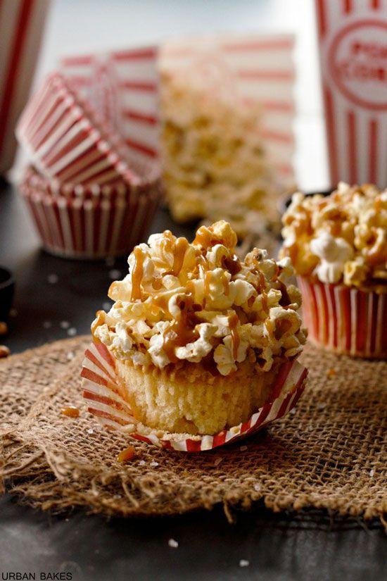Brown Butter Salted Caramel Popcorn Cupcakes, cupcakes, recipes, baking, cupcakedailyblog