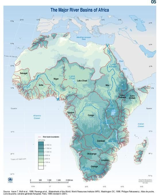 Major river basins of Africa | GRID-Arendal - Maps & Graphics library
