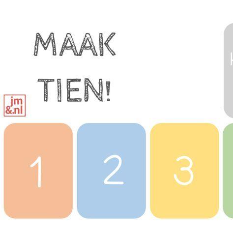 De splitsingen oefenen tot 10 kan met dit eenvoudige kaartspel. Een leuk en leerzaam spel voor rekenen en het enige wat je nodig hebt is een spel kaarten.