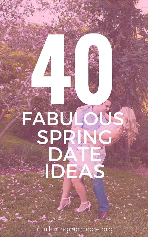 I want to do all 40 of these spring date ideas! How fun! I love this website that has all things marriage - date night tips, intimacy tips, conflict resolution and more! #relationshipgoals #datenight #date