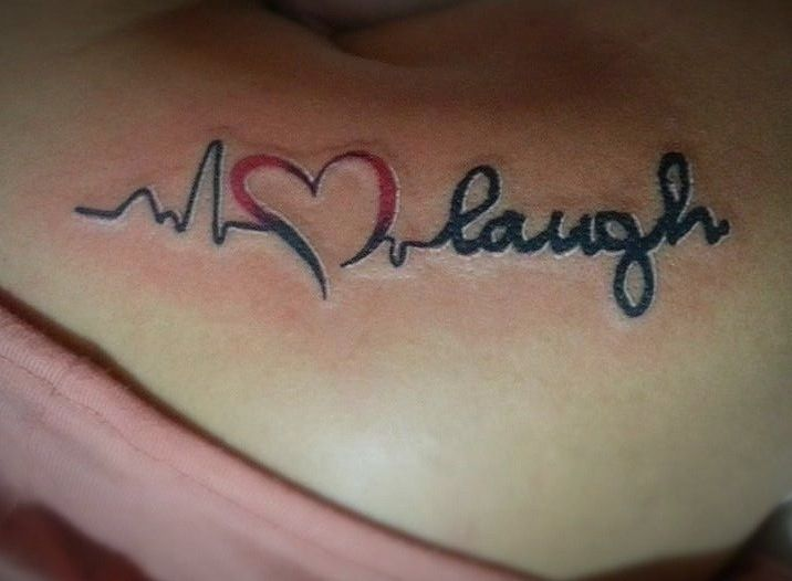 "I finally got ""Live.Love.Laugh"" tattoo! Wooohooo!"