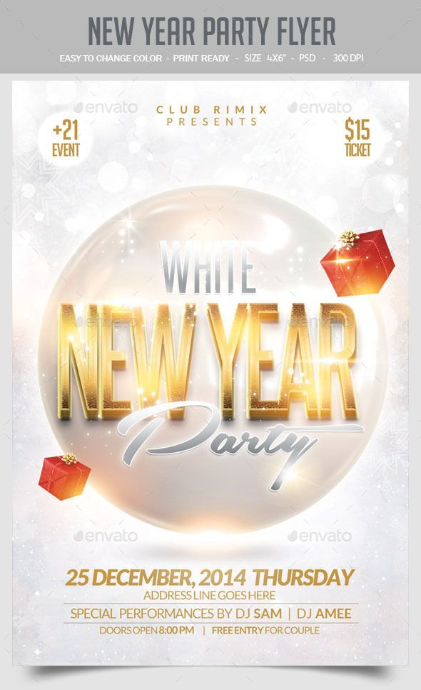 New Year Party Flyer Template PSD | Buy and Download: http://graphicriver.net/item/new-year-party-flyer/9671235?ref=ksioks
