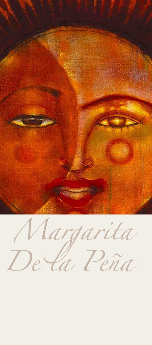 "Margarita De la Peña. Painting. ""Red Moon"". Detail. Oil on canvas. 110 x 100 cm. 1991. Giclée high quality pigments, variable sizes."
