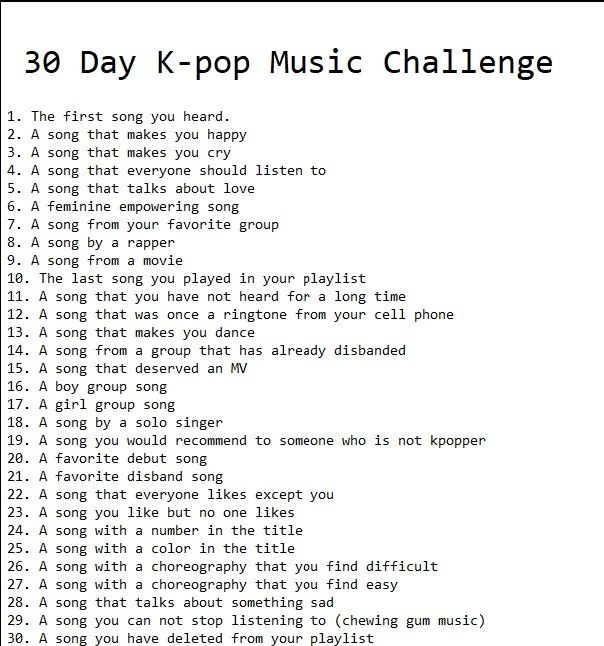30 Day Kpop Music Challenge Tantangan 30 Hari Menjilid Buku Buku