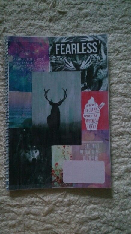 Diy tumblr inspired notebook
