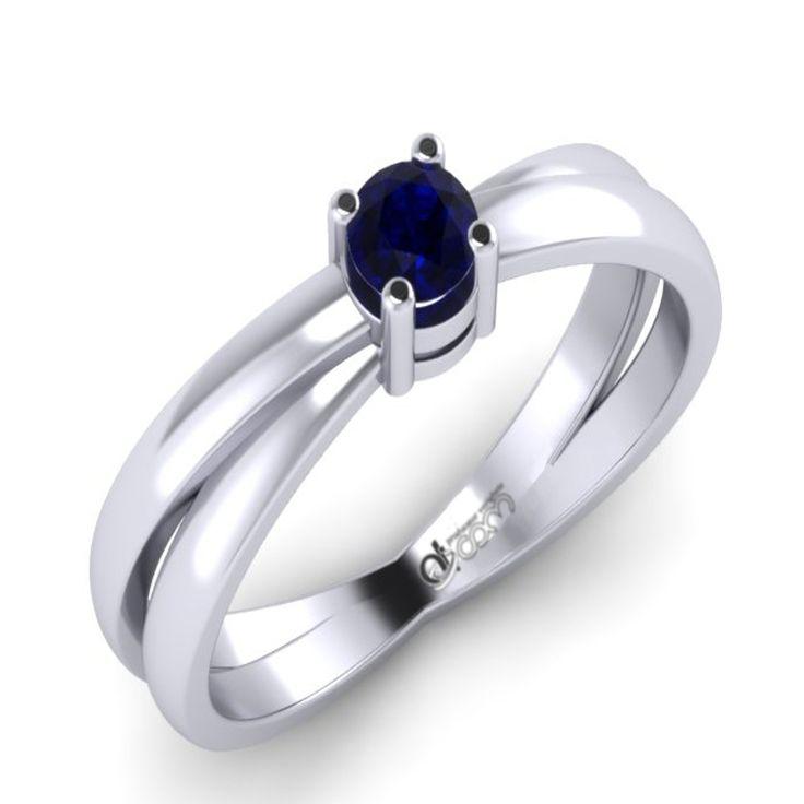 Inel de logodna ATCOM cu diamant ASHIR aur alb
