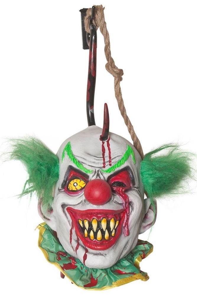 hooked clown head halloween prop - Clown Halloween Decorations