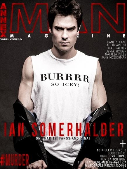 Ian Somerhalder covers the winter issue of Annex Man magazine.